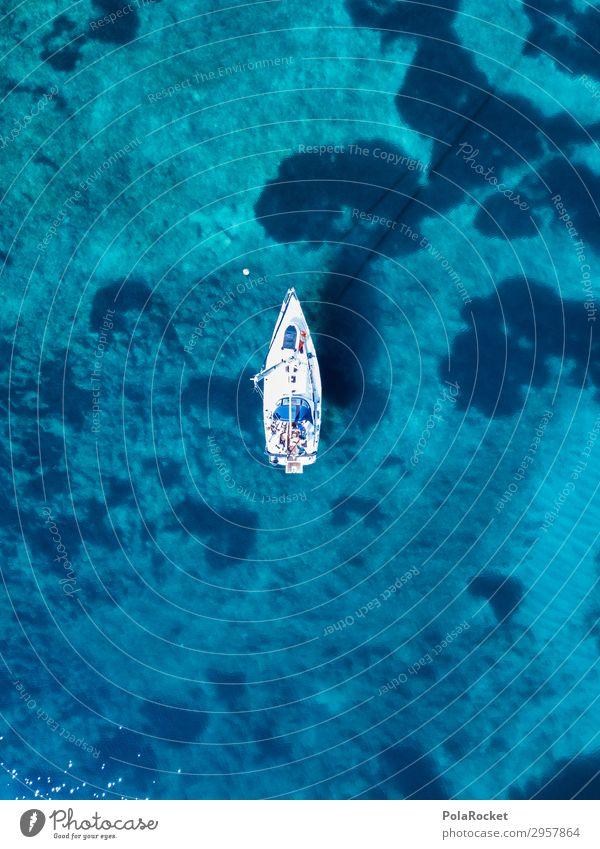 #S# The Boot Lifestyle Freizeit & Hobby hoch Wasserfahrzeug Segel Segelboot Segelschiff oben Luftaufnahme Bucht Meeresboden ankern Ankerplatz genießen Freiheit
