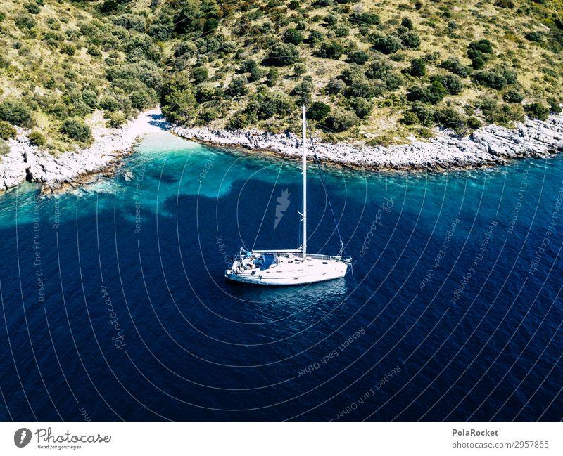 #S# BuchtLover Lifestyle außergewöhnlich Segelboot Segelschiff Segeljacht Segeltörn Segelurlaub ankern Halt Freiheit Natur Küste Ferien & Urlaub & Reisen Meer