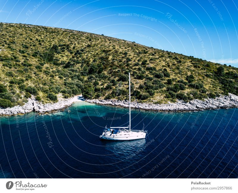 #S# Yacht Natur Landschaft Schönes Wetter Freude Glück Segel Segelboot Segelschiff Segeljacht Segeltörn Segelurlaub Bucht Meer Schwimmen & Baden ankern Insel