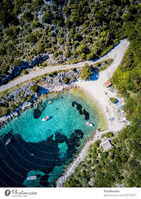 #S# Pfad ins Blaue Umwelt Natur Landschaft Glück Luftaufnahme Bucht Meer Meerwasser Klarheit Baum ankern Wasserfahrzeug Strand klein Blaue Lagune Küste