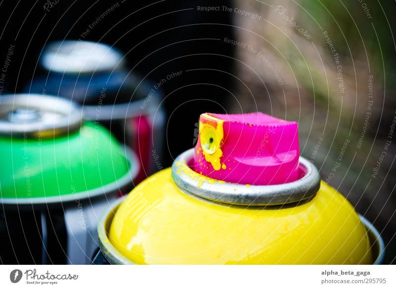 grün schwarz gelb Farbstoff Graffiti Kunst Lifestyle rosa Freizeit & Hobby Design Jugendkultur Künstler Maler Kunstwerk Farbenspiel Grafik u. Illustration