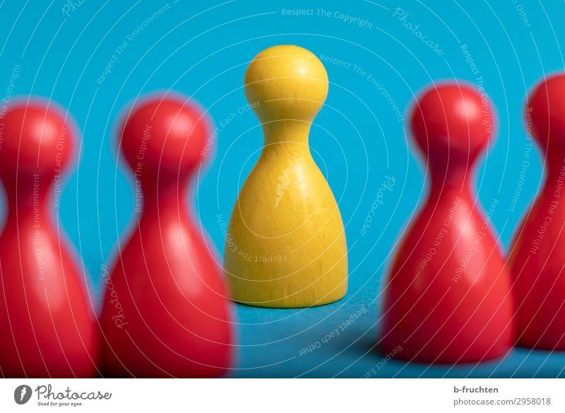 der andere rot Leben gelb sprechen Bewegung Business Menschengruppe Zusammensein Freundschaft Kommunizieren Erfolg einzigartig beobachten Team wählen Spielzeug