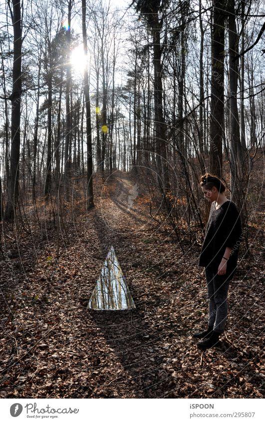 Dreieck Mensch Natur Jugendliche Hand Baum Landschaft Blatt Erholung Junge Frau Wald Erwachsene Umwelt Frühling Haare & Frisuren 18-30 Jahre Kopf