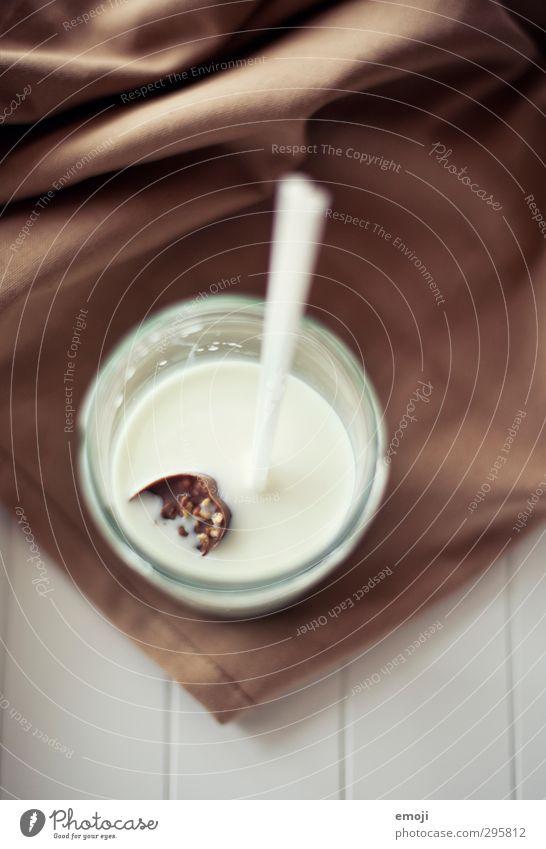 Schokoeiswürfel Glas Getränk Ernährung süß lecker Frühstück Schokolade Milch Trinkhalm