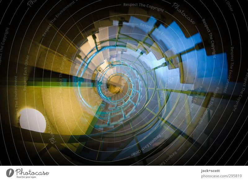 Helix Farbe Architektur Wege & Pfade außergewöhnlich Linie oben Treppe elegant Kraft leuchten Beginn historisch Wissenschaften Wachsamkeit Treppenhaus lang