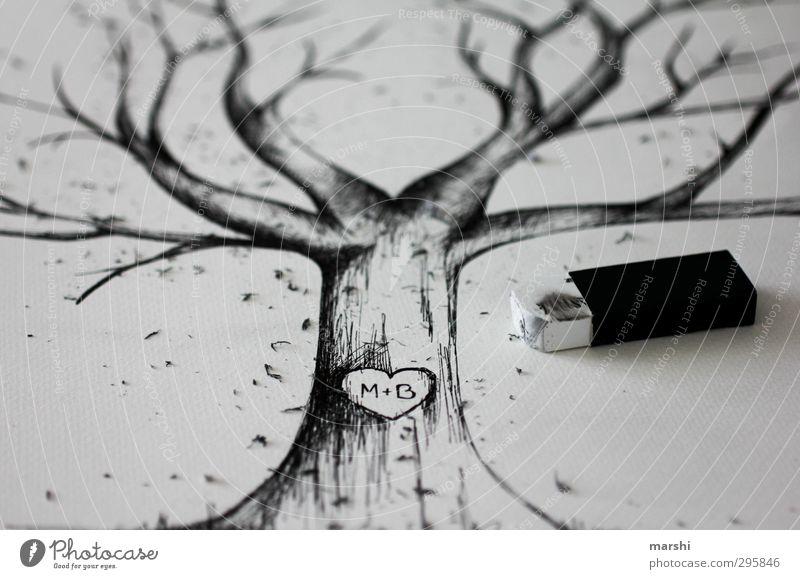 der Baum der Liebe Natur Baum Liebe Gefühle Kunst Freizeit & Hobby Hochzeit malen Baumstamm zeichnen Baumkrone Zeichnung Radiergummi