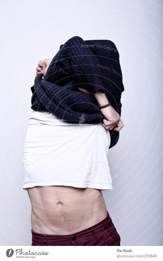 F**K OFF WINTER IV Körper Fitness maskulin Junger Mann Jugendliche Erwachsene Bauch 1 Mensch 18-30 Jahre 30-45 Jahre Mode Pullover berühren Blühend entdecken