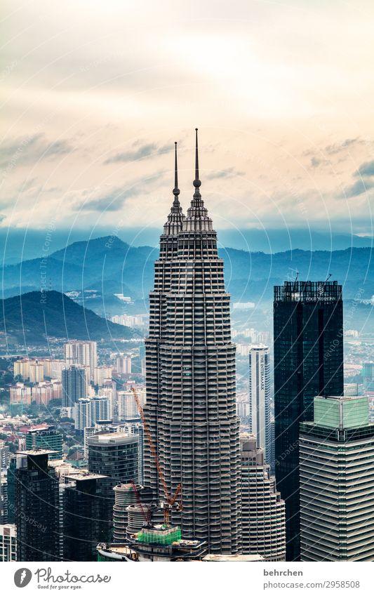 nebulös | großstadtluft Ferien & Urlaub & Reisen Tourismus Ausflug Abenteuer Ferne Freiheit Sightseeing Himmel Wolken Nebel Kuala Lumpur Malaysia Asien Stadt