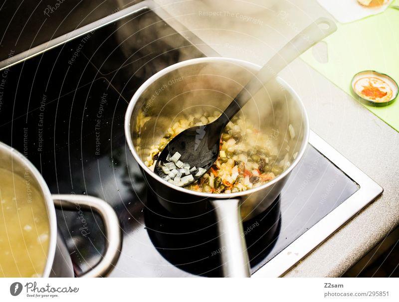 Mittagessen Lebensmittel Gemüse Suppe Eintopf Ernährung Italienische Küche Topf Herd & Backofen Kochlöffel Arbeit & Erwerbstätigkeit Duft frisch Gesundheit gut