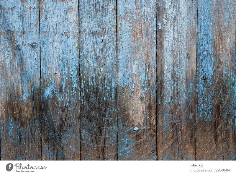 Holzhintergrund mit blau gerissener Farbe Design Dekoration & Verzierung Tisch Natur alt natürlich retro Kreativität Nutzholz Hartholz Hintergrund Holzplatte