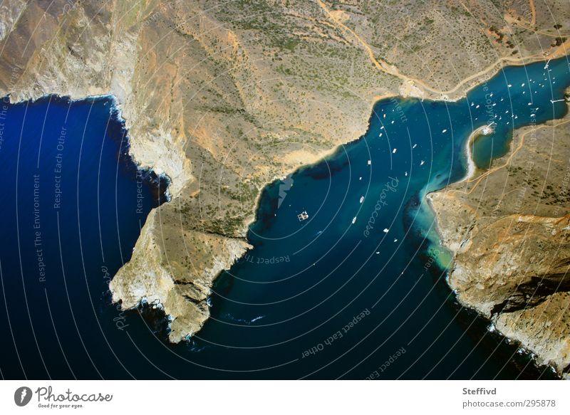 Santa Catalina Island, CA Umwelt Natur Landschaft Erde Sand Luft Wasser Sommer Klima Wetter Schönes Wetter Hügel Küste Strand Bucht Meer Schifffahrt Bootsfahrt