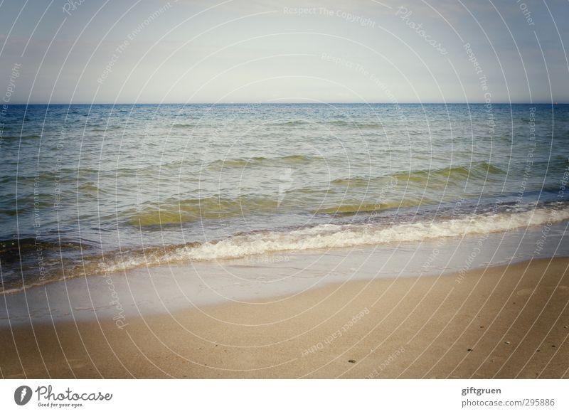 shoreline Umwelt Natur Landschaft Urelemente Sand Wasser Himmel Wolkenloser Himmel Horizont Schönes Wetter Wellen Küste Strand Meer Gezeiten Gewässer Flut Ebbe