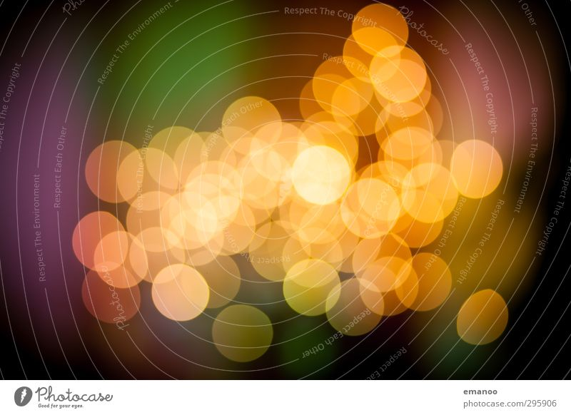 Bokeh Kunst Veranstaltung Show Zeichen Kugel hell Wärme gelb Design Unschärfe Licht Lichterscheinung Weihnachten & Advent Weihnachtsbeleuchtung rund Kreis weich