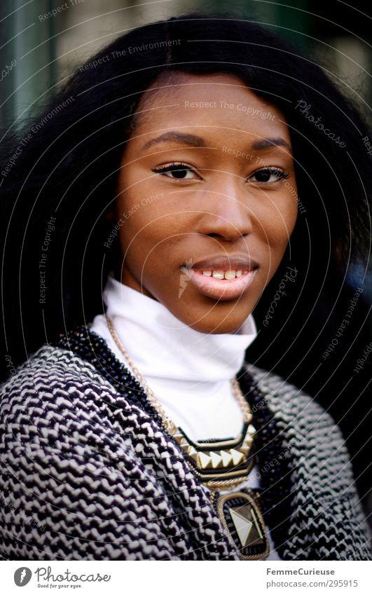 NYC Girl III Mensch Frau Jugendliche schön weiß Junge Frau Gesicht Erwachsene feminin lachen 18-30 Jahre Kopf Stil natürlich elegant Lifestyle