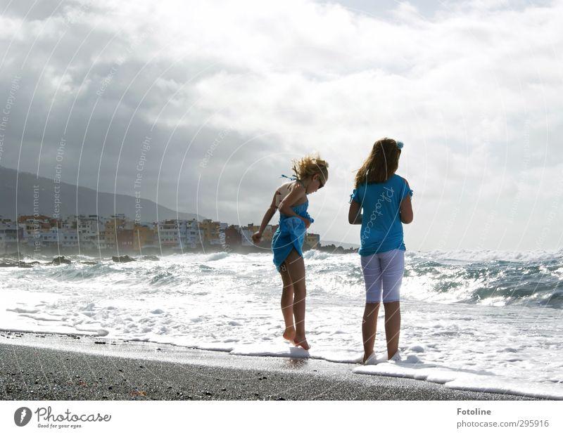 Meine Felsen in der Brandung! Mensch Kind Himmel blau Stadt Wasser weiß Sommer Meer Mädchen Wolken Haus Leben feminin Haare & Frisuren Küste