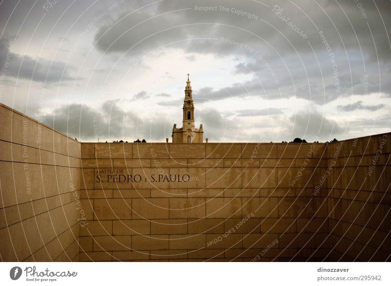 Kirchturm in Fatima, Portugal Ferien & Urlaub & Reisen Tourismus Kirche Gebäude Architektur Denkmal Religion & Glaube Basilika katholisch Katholizismus