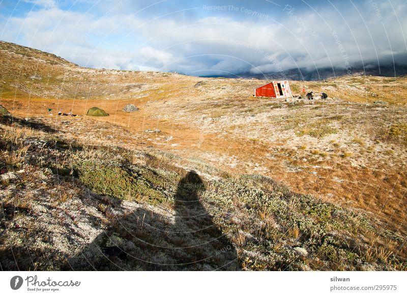 Green(hut #III)land 2 Mensch Hütte entdecken wandern exotisch frisch Unendlichkeit grün Schutz Heimweh Abenteuer Armut kalt Umwelt Grönland Adventure Zelt