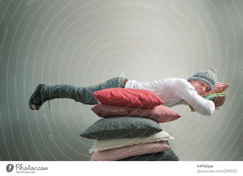 steueroase - kopfkissen Mensch maskulin Mann Erwachsene 1 30-45 Jahre schlafen ruhen Ruhestand Schweben Kissen weich träumen Mütze Kopfkissen Kapitalwirtschaft