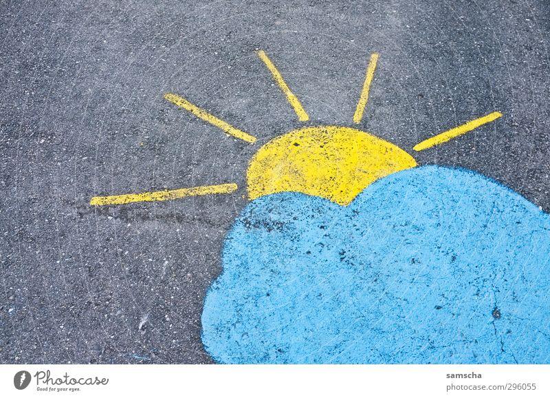 Sonnenschein Stadt schön Sommer Sonne Wolken Umwelt Straße Herbst Wege & Pfade Frühling Wetter Klima Schönes Wetter Bodenbelag Boden malen