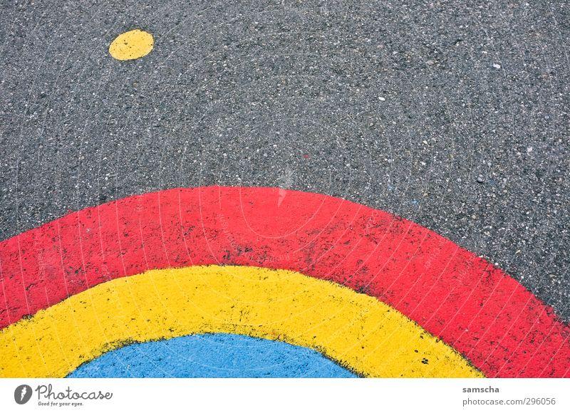 Regenbogen Umwelt Himmel Frühling Sommer Herbst Klima Klimawandel Wetter Schönes Wetter schlechtes Wetter Straße Straßenkreuzung Wege & Pfade schön