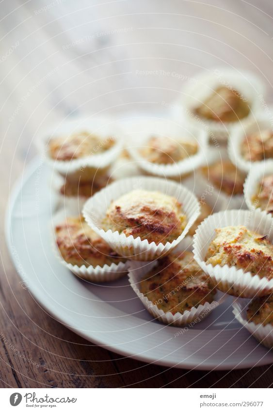 öko-muffins Brötchen Büffet Brunch Picknick Bioprodukte Vegetarische Ernährung Fingerfood hell lecker Muffin Farbfoto Innenaufnahme Menschenleer Tag