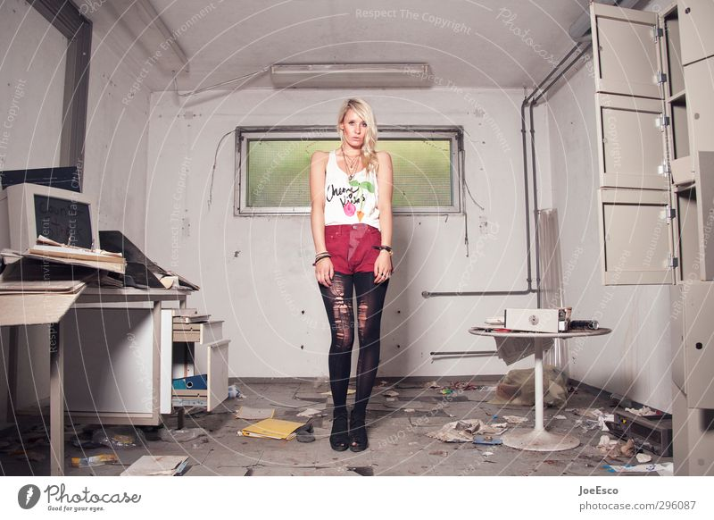 #231643 Frau Jugendliche schön Erwachsene 18-30 Jahre Stil Mode Büro Arbeit & Erwerbstätigkeit Raum Wohnung Computer lernen kaputt Studium