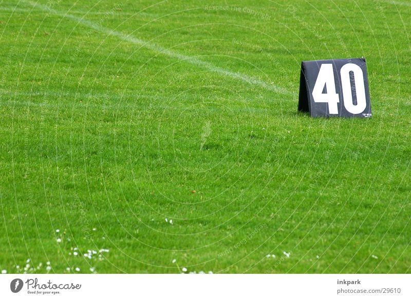 40 Yards Sport Linie Rasen Ziffern & Zahlen 40 Filzstift