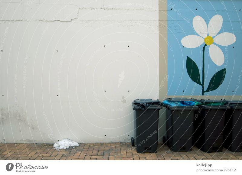 biotonne Blume Haus Häusliches Leben Blühend Gemälde Müll Bioprodukte Hinterhof Recycling Müllbehälter Mieter Fass entsorgen Hausmüll