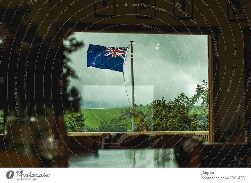 Flagge von Neuseeland Fahne Gesellschaft (Soziologie) Identität Politik & Staat Ferien & Urlaub & Reisen Sicherheit Stimmung Tourismus Tradition Vertrauen