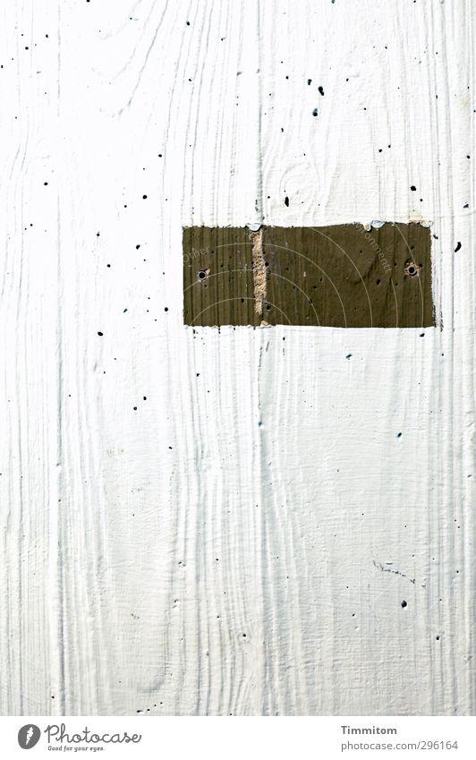 For The Last Time. Gefühle grau Schilder & Markierungen Beton ästhetisch Coolness einfach Loch Maserung Betonwand Dübel