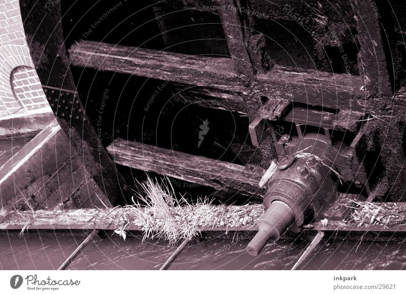 Wassermühle Mühle drehen zerkleinern Bach Grass Bewegung