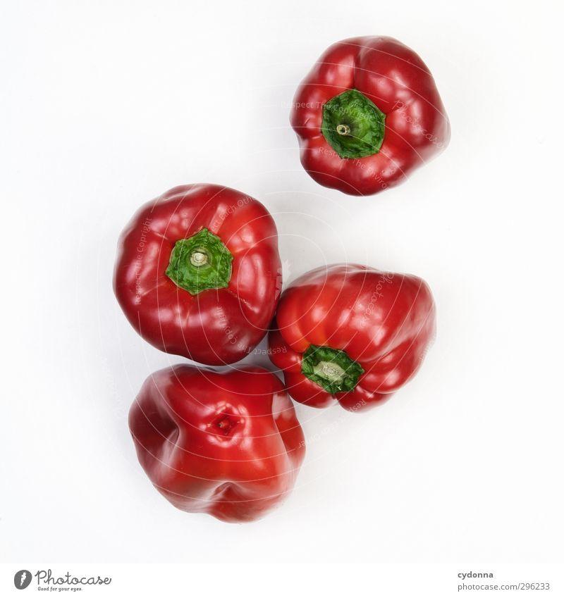 Paprika Farbe rot Leben Gesunde Ernährung Gesundheit Lebensmittel glänzend frisch ästhetisch genießen Vergänglichkeit einzigartig Kochen & Garen & Backen Gemüse