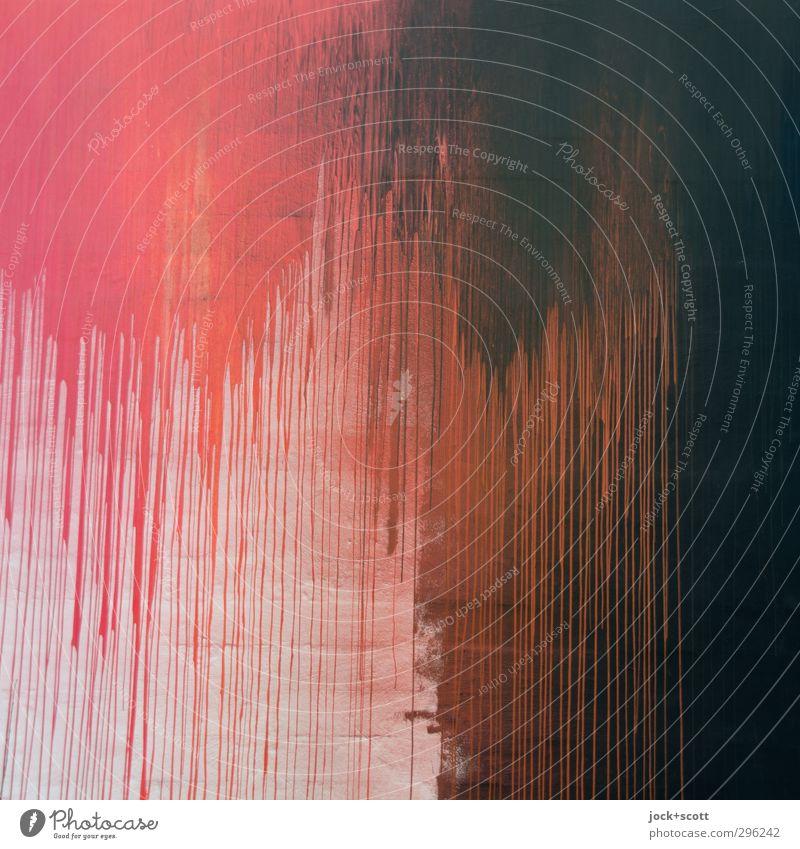 Flatsch! rot/schwarz Wand Linie Tod Angst enthemmt komplex stagnierend Farbverlauf übergangslos Oberfläche expressiv Farbfleck Straßenkunst Alptraum