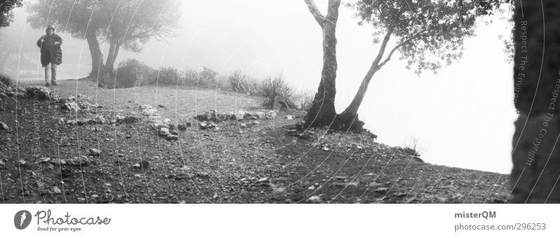We march. Reisefotografie Kunst Nebel wandern ästhetisch Abenteuer bedrohlich Landkreis Regen fantastisch geheimnisvoll Panorama (Bildformat) Surrealismus Fernweh mystisch spukhaft beängstigend