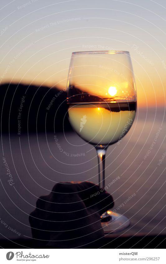 Cheers! Ferien & Urlaub & Reisen Himmel (Jenseits) Erholung Leben Kunst Freiheit Lebensmittel Zufriedenheit Freizeit & Hobby Glas ästhetisch genießen Zukunft