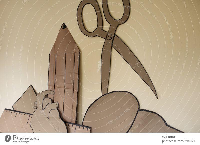 Selbstgemachtes Wand Leben Freiheit Herz Kommunizieren Dekoration & Verzierung ästhetisch planen Papier Zeichen Kreativität Idee Lebensfreude Bildung Neugier