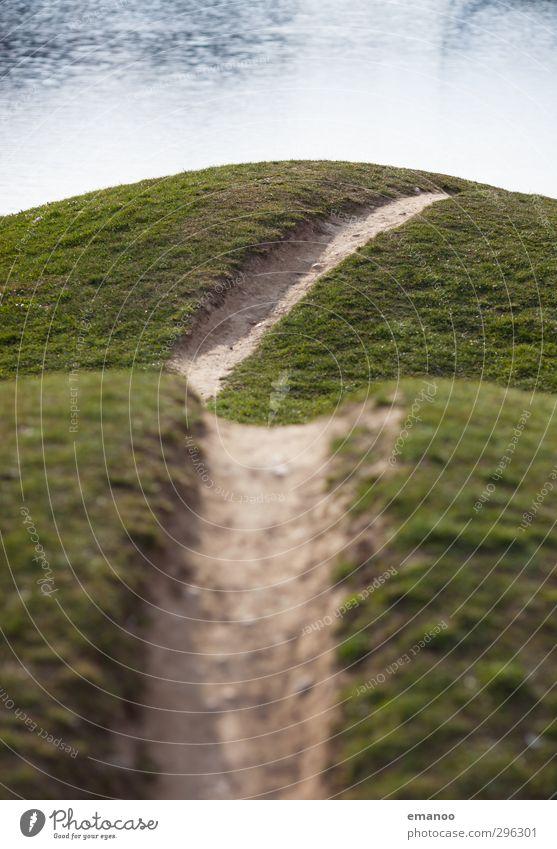 Grasnarbe Freude Freizeit & Hobby Ferien & Urlaub & Reisen Ausflug Sport Fahrrad Umwelt Natur Landschaft Erde Wasser Park Wiese Hügel fahren grün Wege & Pfade