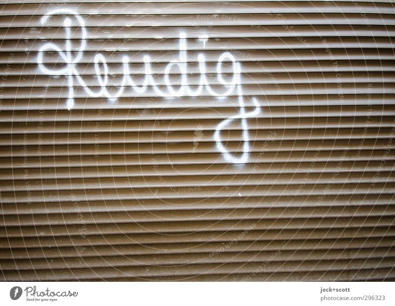 reudischh Subkultur Kunststoff Schriftzeichen Linie Streifen schreiben hässlich einzigartig Krankheit nerdig trashig falsch Hemmungslosigkeit Kreativität Rätsel