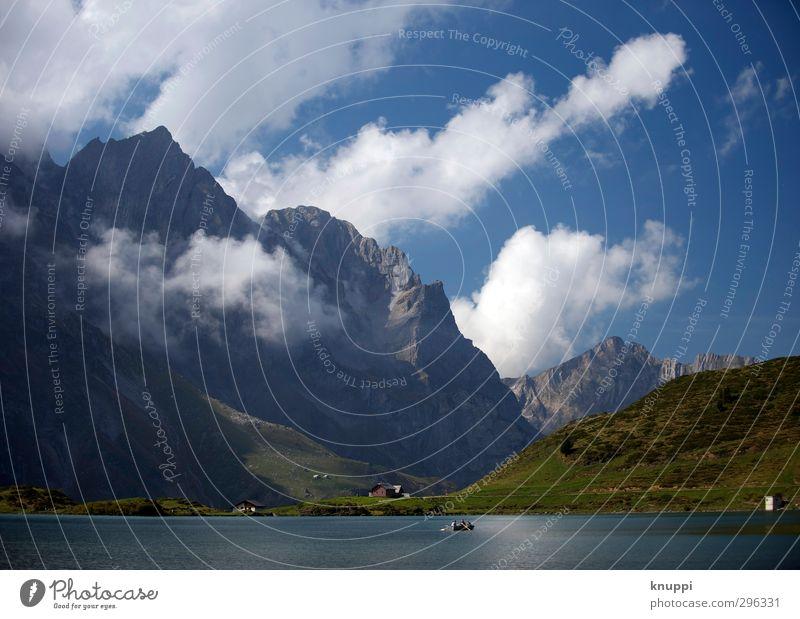 Dimensionen Nr.2 Umwelt Natur Landschaft Pflanze Luft Wasser Himmel Wolken Sonne Sonnenlicht Sommer Schönes Wetter Gras Hügel Felsen Alpen Berge u. Gebirge