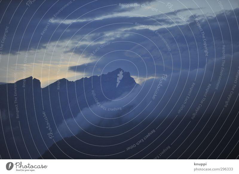 Dämmerung Umwelt Natur Landschaft Luft Wasser Himmel Wolken Sonnenaufgang Sonnenuntergang Sonnenlicht Frühling Schönes Wetter Nebel Felsen Alpen