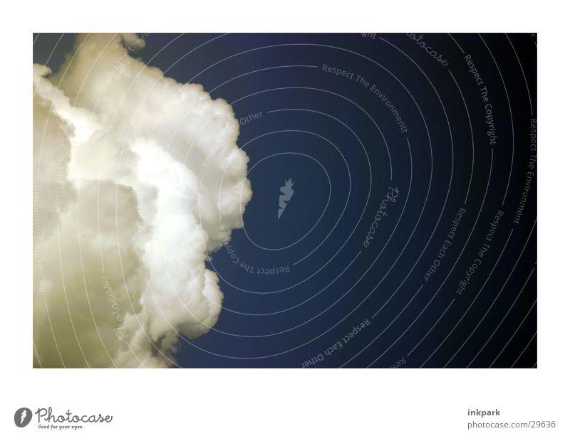 Donnerwetter blau Wolken dunkel Wetter Kumulus