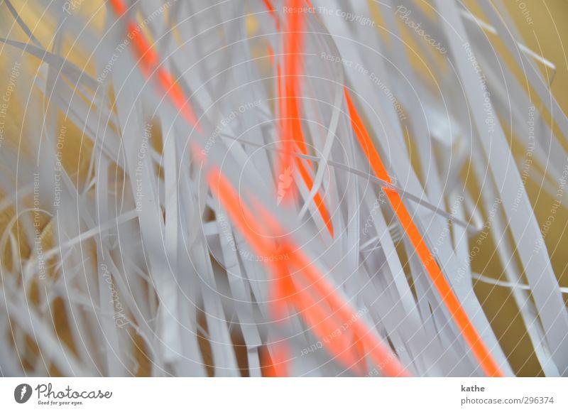 Häckselangriff Kunst Kunstwerk Skulptur Zeitung Zeitschrift Linie Streifen Schnur Freude mehrfarbig Innenaufnahme Nahaufnahme Detailaufnahme Makroaufnahme