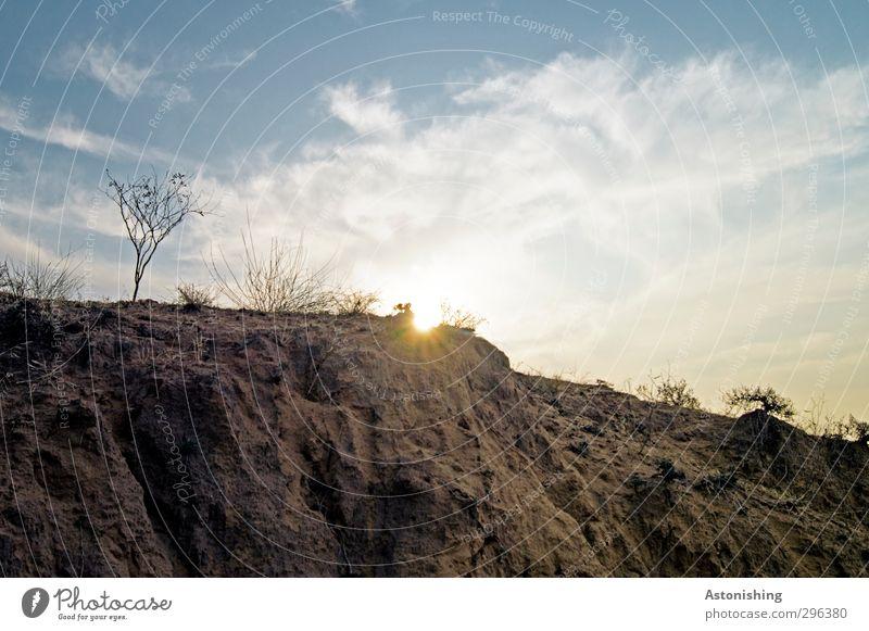 trocken Umwelt Natur Landschaft Pflanze Erde Sand Himmel Wolken Sonne Sonnenaufgang Sonnenuntergang Sonnenlicht Frühling Wetter Schönes Wetter Wärme Dürre Gras