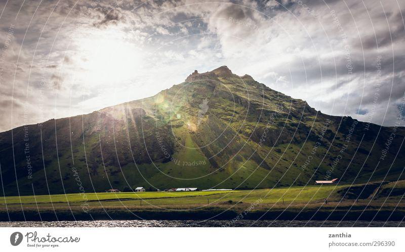 sunray Landschaft Wolken Sonne Sonnenlicht Sommer Schönes Wetter Berge u. Gebirge Gipfel Stimmung Frühlingsgefühle Beginn Energie Erholung Frieden Hoffnung