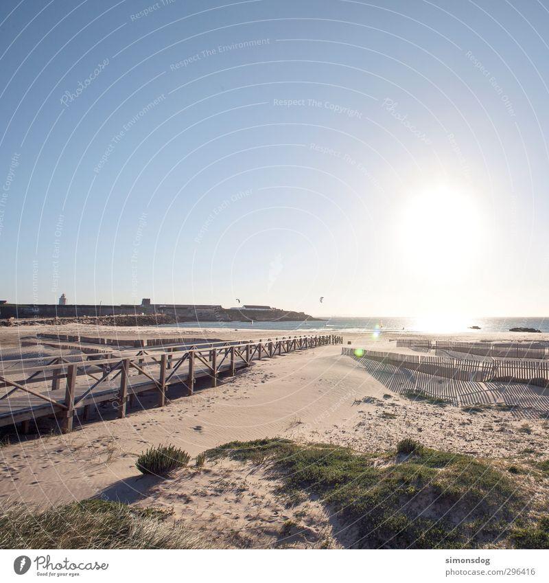 arrived Natur Ferien & Urlaub & Reisen Wasser Sommer Meer Landschaft ruhig Strand Erholung Sand Horizont Zufriedenheit Schönes Wetter Idylle Urelemente