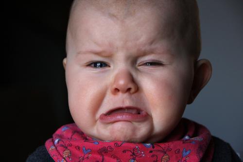 maulig feminin Kind Baby Kleinkind 1 Mensch 0-12 Monate schreien Traurigkeit weinen schön klein Gefühle Fürsorge Kindheit Schmerz Schutz laut schmollen maulen