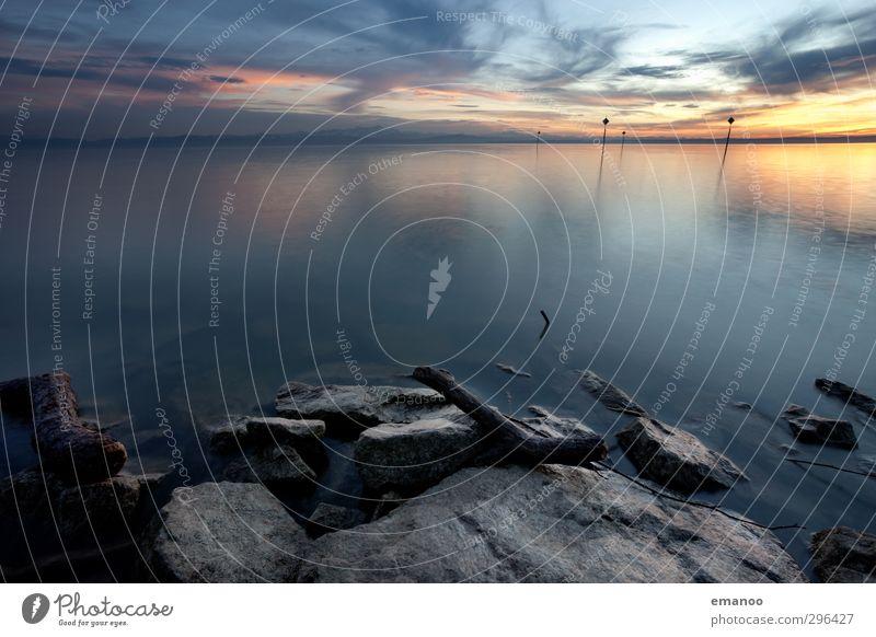 Schwäbisches Meer Himmel Natur Ferien & Urlaub & Reisen Wasser Sommer Sonne Landschaft Wolken Winter Umwelt Freiheit Küste See Stein Horizont