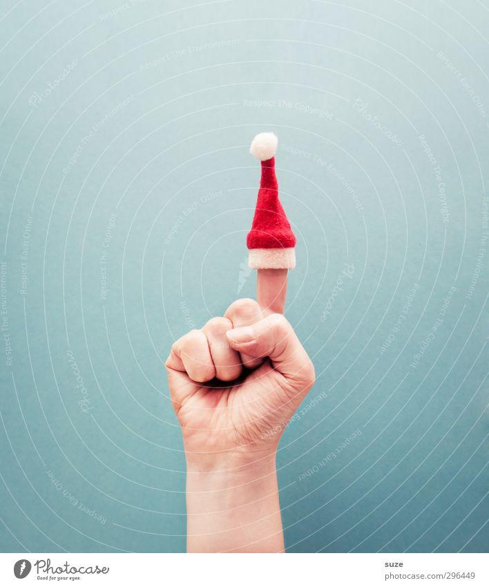 Mach's mit. Weihnachten & Advent Hand rot lustig hell Lifestyle Arme Dekoration & Verzierung Kommunizieren Finger einfach Coolness Kreativität Sicherheit Idee Zeichen