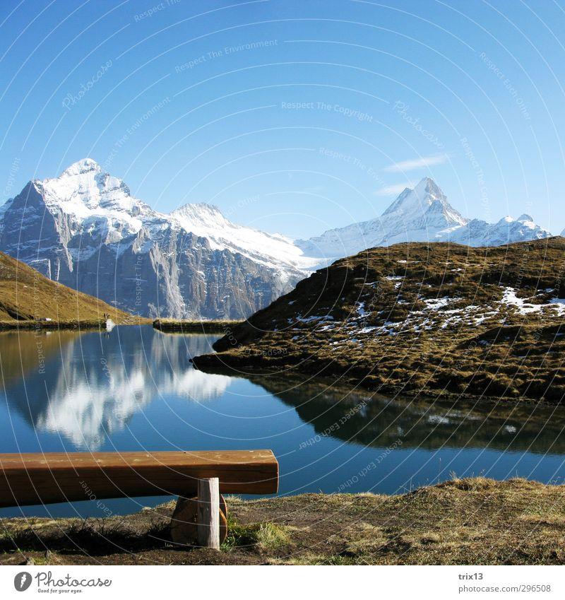 Beautiful Switzerland Ausflug Freiheit Natur Landschaft Wasser Himmel Wolkenloser Himmel Herbst Wetter Schönes Wetter Gras Hügel Alpen Berge u. Gebirge