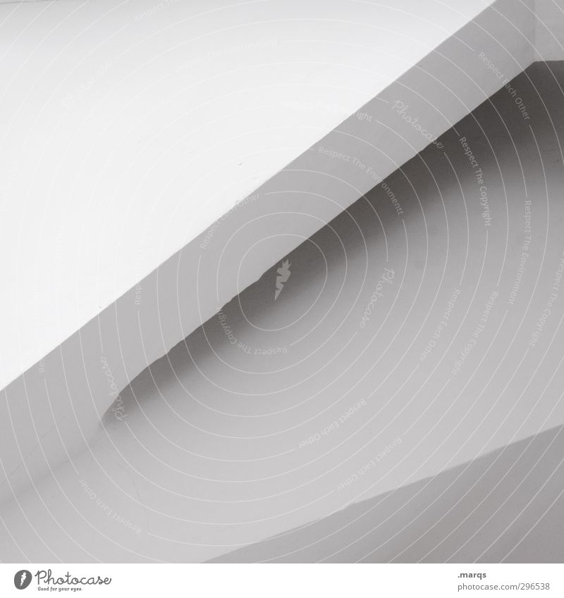 Ecke elegant Stil Design Innenarchitektur Beton außergewöhnlich eckig einfach modern schön weiß Perspektive Grafik u. Illustration Hintergrundbild